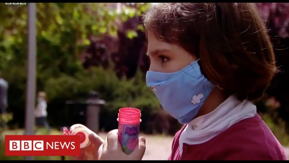 Coronavirus:  children in Spain leave homes for first time in 6 weeks   BBC News