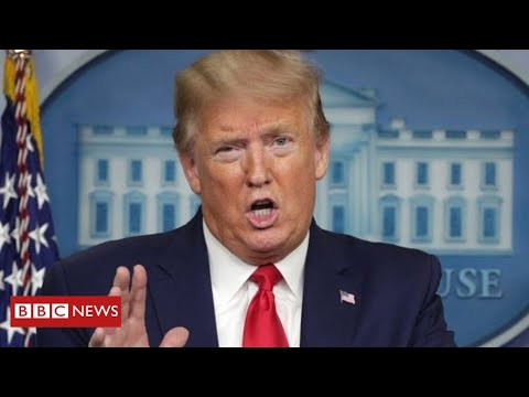 """Coronavirus: Trump claims advice to inject disinfectant was just """"sarcasm""""   BBC News"""