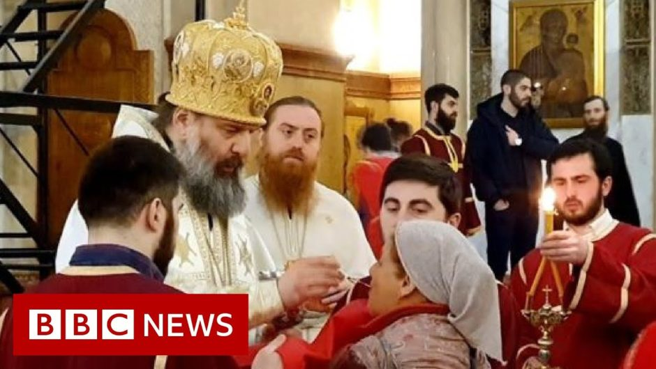 Coronavirus: worshippers still able to attend churches in Georgia despite restrictions   BBC News