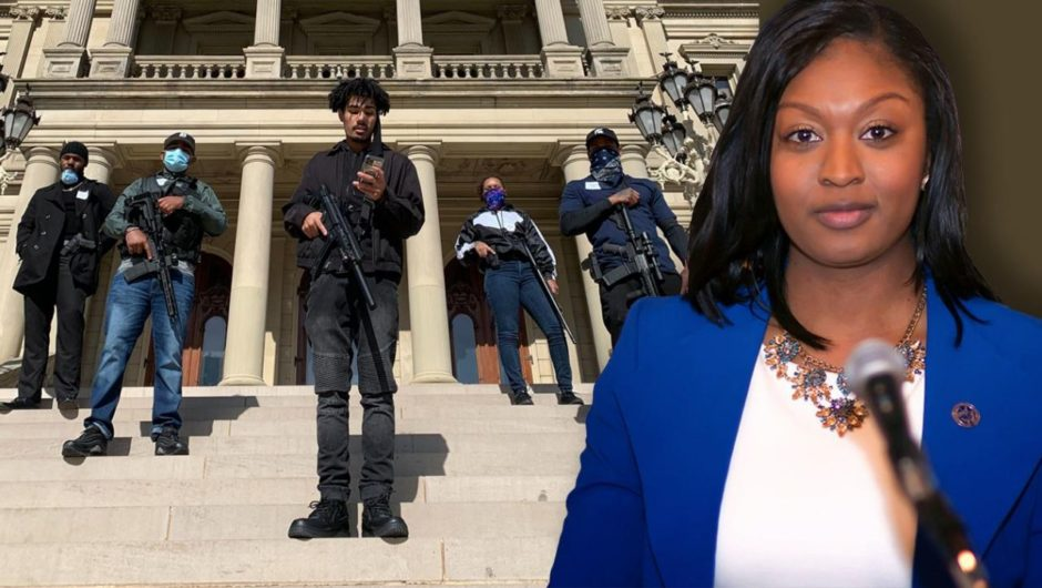 Armed activists escort black lawmaker to Michigan's Capitol after coronavirus protest attended by white supremacists