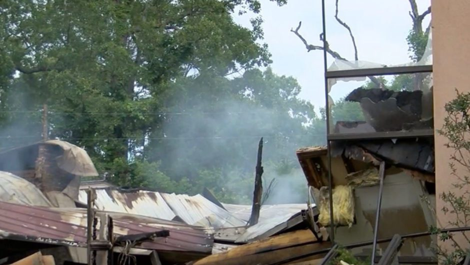 A Mississippi church that violated coronavirus orders was burned down. A spray painted message said 'bet you stay home now'.