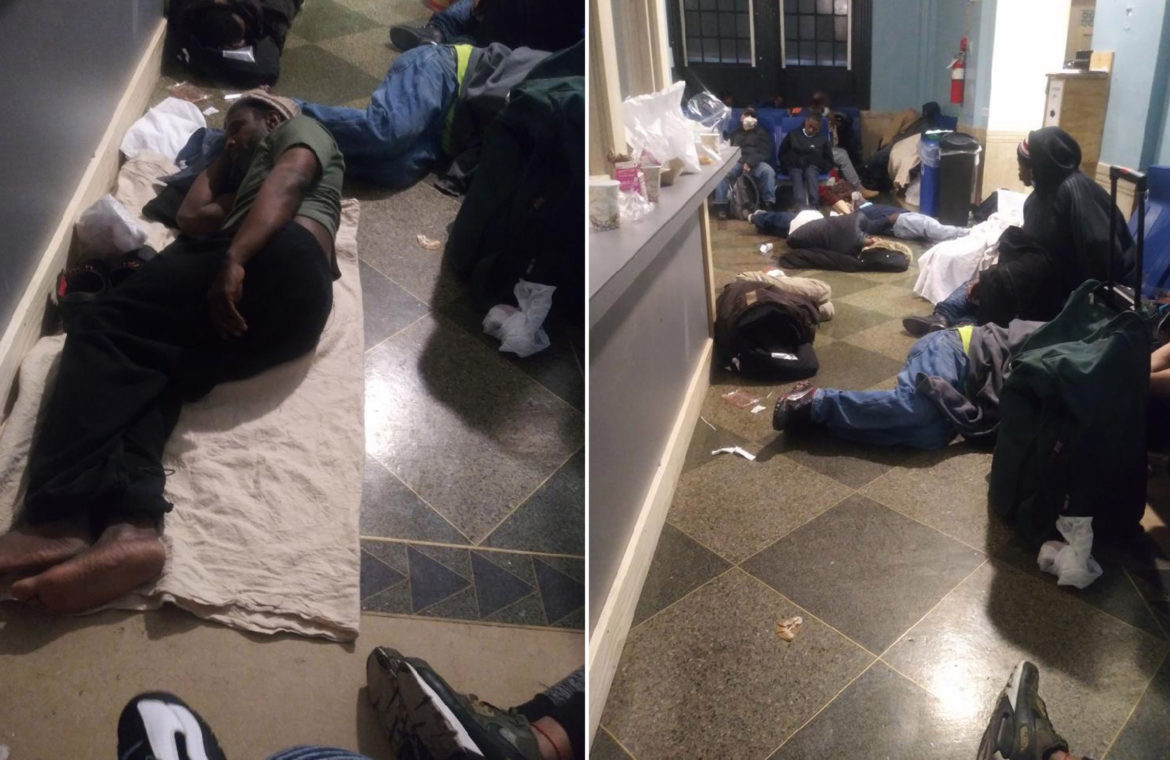 Men in homeless shelter trapped next to coronavirus carriers, K2 zombies
