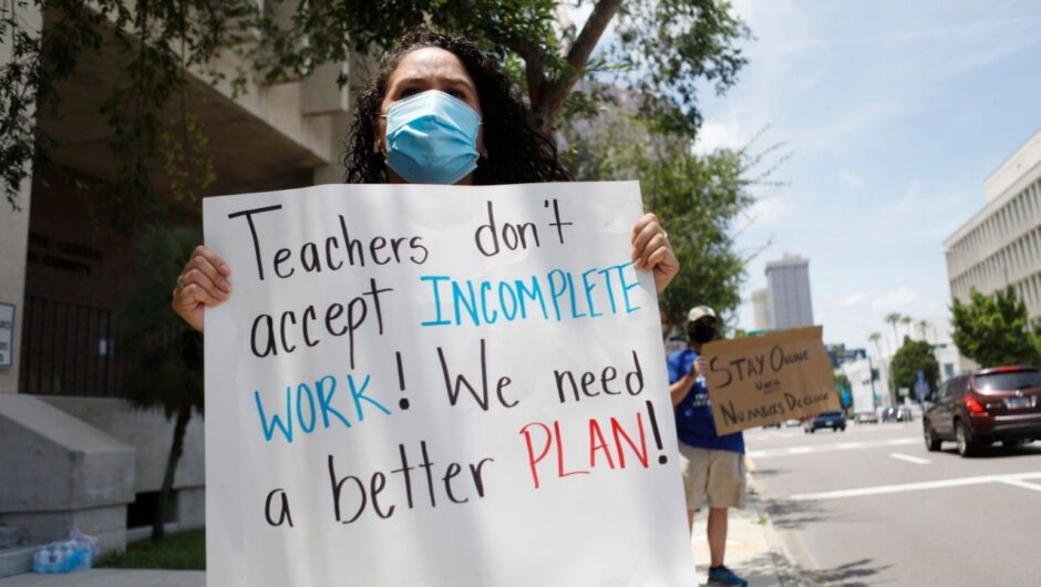Parents in a school district in Georgia, are demanding in person classes. But hundreds of employees have tested positive or been exposed to COVID 19, revealing the biggest blind spot in the fight to reopen schools