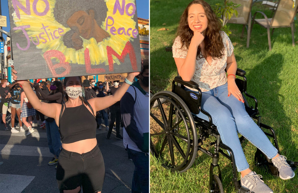 Woman in wheelchair after catching COVID 19 at BLM rally: reports