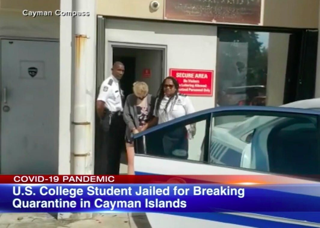 An American college student has been sentenced to 4 months in a Cayman Islands prison after violating COVID 19 quarantine rules