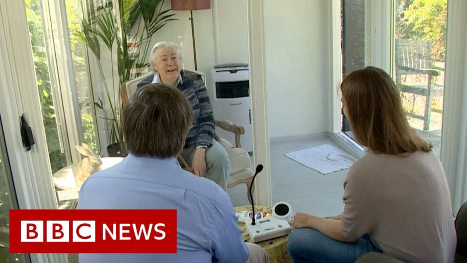Coronavirus: Dutch care home reunites families in a glass pod   BBC News