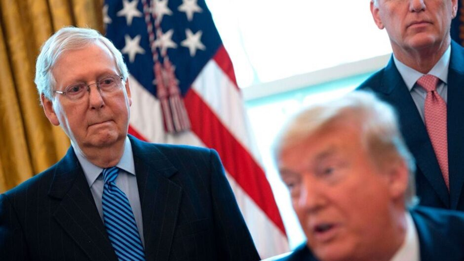 Trump threw away his leverage by signing the COVID 19 package with $600 checks and can now only watch as McConnell blocks $2,000 payments