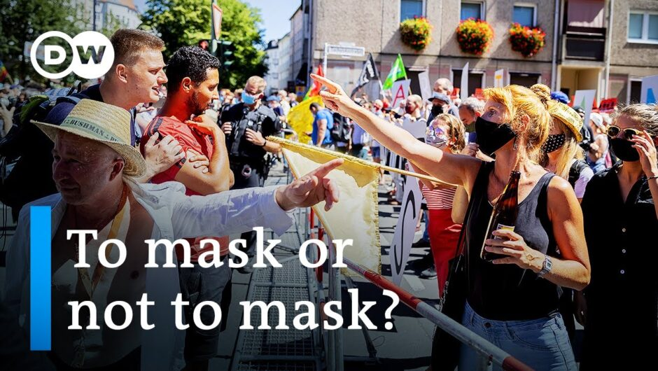 Berlin protests for and against coronavirus restrictions as cases soar in Germany   DW News
