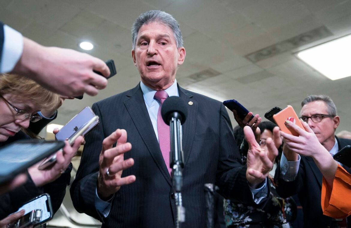 Key Democratic Sen. Joe Manchin signs off on $1.9 trillion COVID 19 stimulus bill as long as there's a 'bipartisan process'
