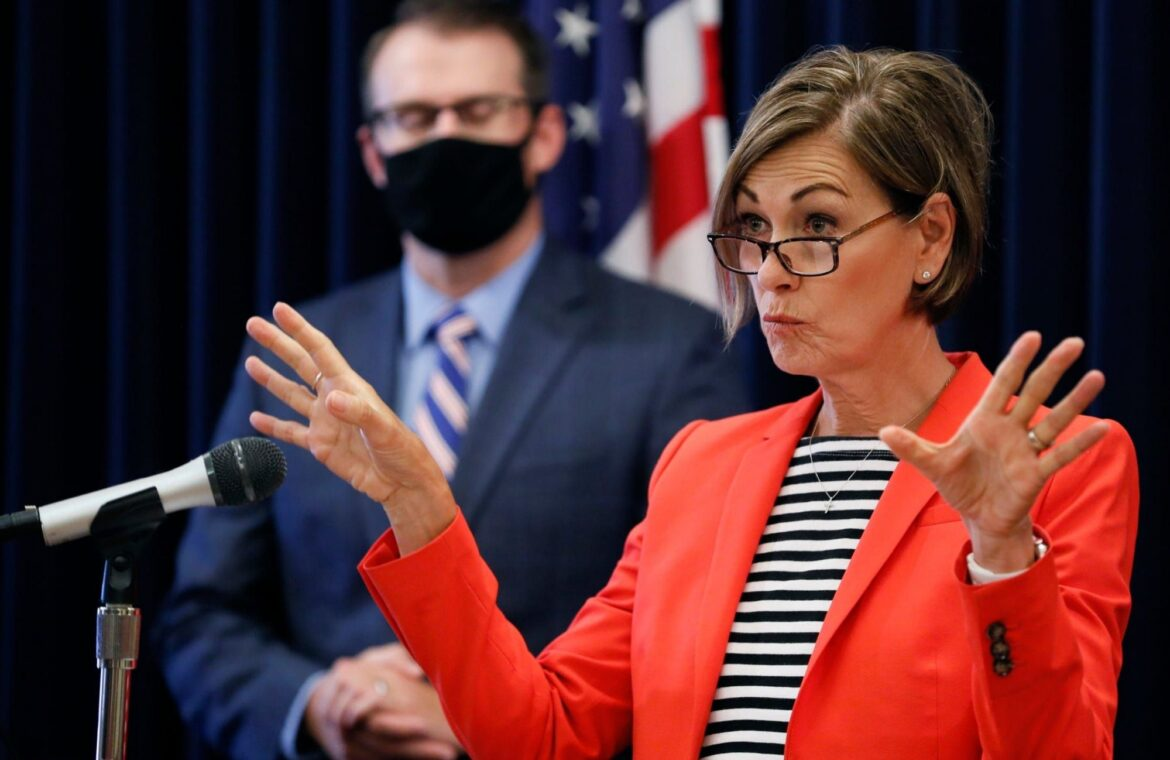 The governor of Iowa lifted mask wearing restrictions despite a new coronavirus variant in the state