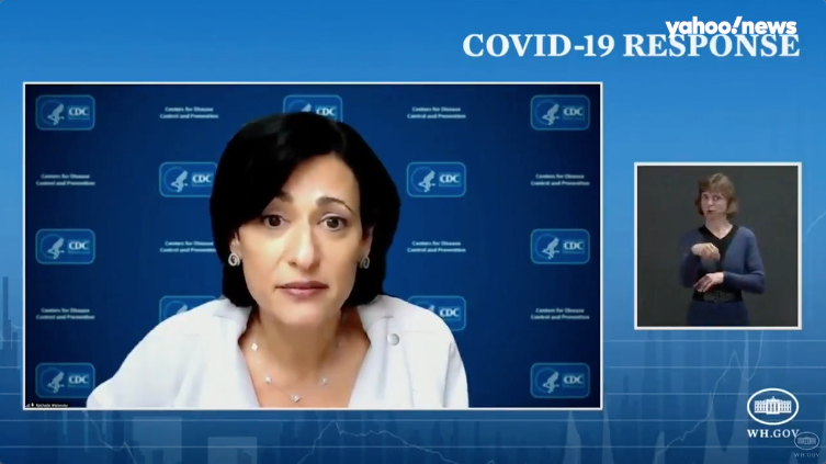 CDC's Walensky concerned about decline in COVID 19 cases and deaths stalling